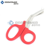 OdontoMed2011® PARAMEDIC UTILITY BANDAGE FIRST AID STAINLESS STEEL TRAUMA EMT EMS SHEARS SCISSORS 2.2m RED ODM