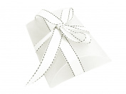 19cm x 14cm White Frosted Plastic Large Pillow Gift Box for Wedding Baby Shower Party Favours