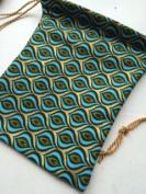 Drawstring bag ~ Handmade Large size ~ Ravenz Roost hand made item