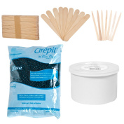 Cirepil Blue Bead (800g) Kit, includes Empty Wax Can, 100 X-Small and 60 Large Applicator Sticks