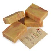 All Natural Vegan Lemon Gingergrass Cinnamon Handmade Bar Soap by Desert Spring Naturals Made With Lemon, Gingergrass & Cinnamon