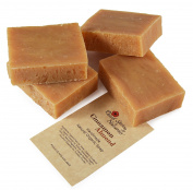 Natural Organic Handmade Cinnamon Almond Bar Soap by Desert Spring Naturals Made With Organic Olive Oil