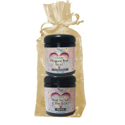 Simply Radiant Beauty Organic Skin Care Bath & Body Valentines Gift Set- Black Cherry Vanilla 240ml Dead Sea Salt & Shea Butter + Body Butter