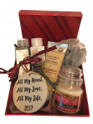 Valentine's Day Sassy n' Sweet Gift Set Candle Lotion Porcelain Ornament Key to My Heart