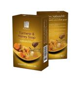 Sabunnga Herbal Natural Soap Turmeric & Honey Soap, Diminish Scars & Dark Spots 100 G.