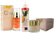 Noche y Dia Vitamin C Concentrate, Vitamin C Revitalising Cream & Vitamin C Cleansing Water 3 pc Gift Set