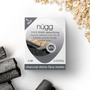 nugg Charcoal Skin Detox Face Mask 5 Pack with Black Charcoal, Tea Tree Oil and Oatmeal - 45ml 5 ct
