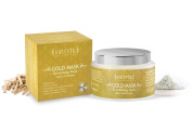 Sattvik Organics Gold Mask - Revitalising Mask, With Kaolin & Sandalwood • Tightens Pores • Gives a Firm & Fresh Look • Enhances Complexion • Leaves Skin Visibly Smoother & Flawless