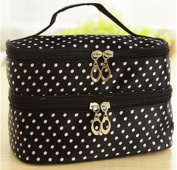 Black With White Poka Dots Cosmetics bag