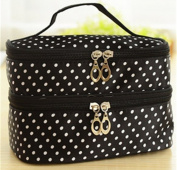 Black With White Poka Dots Cosmetics bag