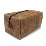 SLC's Oil Tanned Leather Toiletry/DOPP Bag - Handmade