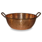 Hand-Hammered Copper Foot-Bath Bowl, 50cm