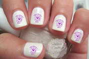 Firefighter Wife Purple Design #2 Nail Art Decals
