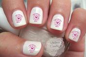Firefighter Wife Pink Design #1 Nail Art Decals