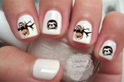 Cute Animal Sloth Nail Art Decals