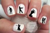 Zombie Dead Walking Nail Art Decal