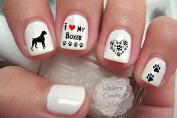 Boxer Dog Design #4 Nail Art Decals