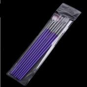 Medius Sticker 7 Pcs Fashion Purple Design Dotting Painting Brush Pen