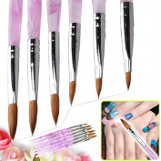 Medius Sticker 6 X Sizes 2 4 6 8 10 12 Marble Sable Nail Art Acrylic Pen