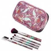 Ariel Brush Set and Make-Up Bag 5 varied type makeup brushes with clear front zip bag
