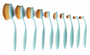 10pcs/set Oval Toothbrush Blend Foundation Makeup Brushes Set Cream Fluid Moisturisers Primers Beauty Kit