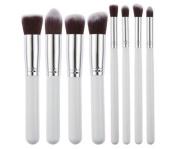 8pcs/set Makeup Brushes Set Kit Pro Kabuki Cosmetics Foundation Loose Powder Blusher Nasal Shadow Liner Brushes Blending Blush