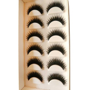 ☀ KESEE 6 Pair Handmade Natural False Eyelashes