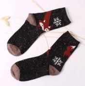 OVERMAL Women Crochet Knitted Stocking Leg Plush Cover Trim Socks