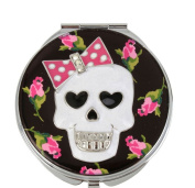 Betsey Johnson Skull Rose Printed Mirror Compact