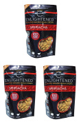 "NEW LARGER BAG! Enlightened Roasted Fava Broad Beans ""The Good-For-You Crisp"" (Pack of 3) - 30% MORE CRISPS!"
