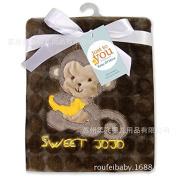 51WAY Baby Blanket Coral Velvet Newborn Sack Baby Blankets Cartoon Quilt Infant wrap