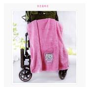 51WAY Fibre velvet Shu Mianrong embroidered child blanket children hold blanket lunch break blanket