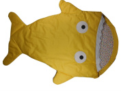 Yellow Infant Baby Toddler Sleeping Bag Shark Whale Swaddle Blanket