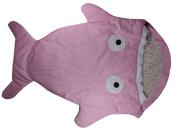 Pink Infant Baby Toddler Sleeping Bag Shark Whale Swaddle Blanket