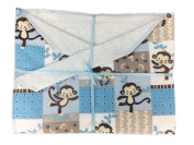 Monkey See Monkey Do Baby Blanket from Memere Blanket Great for Girls or Boys !