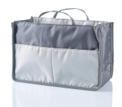 Nappy Bag Insert Organiser for . Moms Tote Purse Handbag, 11 Pockets, Grey