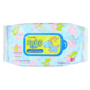 Pure-Aid Lightly Scented Baby Wipes-80ct