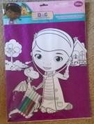 Disney Junior Doc Mcstuffins Velvet Colouring Sheet With Markers