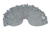 Soft Grey - 6 Pairs Cotton Newborn Baby/infant No Scratch Mittens Gloves