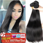 QTHAIR 8A Indian Virgin Hair Straight 3 PCS 60cm 60cm 70cm 100% Unprocessed Indian Straight Virgin Hair Extension Weaves Natural Black
