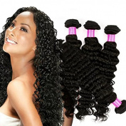 Fashion Queen 4pcs lot Peruvian Virgin Hair Deep Wave Grade 7A Unprocessed Deep Curly Human Hair Weave Bundles