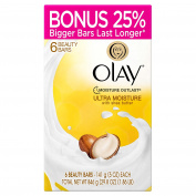 Olay Ultra Moisture Beauty Bars with Shea Butter 6 ct - 150ml