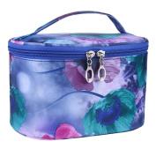 Hatop Fashion Women Single-layer Printed Flower Series Portable Cosmetic Bag