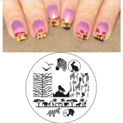 Susenstone .   Animal Patterns Nail Art Stamp Template Image Plate
