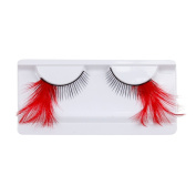 CHN'S 1PC Women Party Stage Long Thick Feather False Eyelashes Makeup
