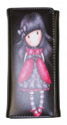 Private Label Black Red Dress Girl Leather Wallet