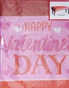 Valentine's Day Rectangular Plastic Table Cover, 140cm x 270cm