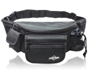 Waist Pack With 7 Pockets - Big Black Bum Bag - by Globeproof®
