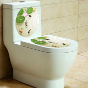 Laimeng,Removable Vinyl Art Toilet Seat Wall Sticker