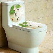 Laimeng,Removable Vinyl Art Toilet Seat Wall Sticker
